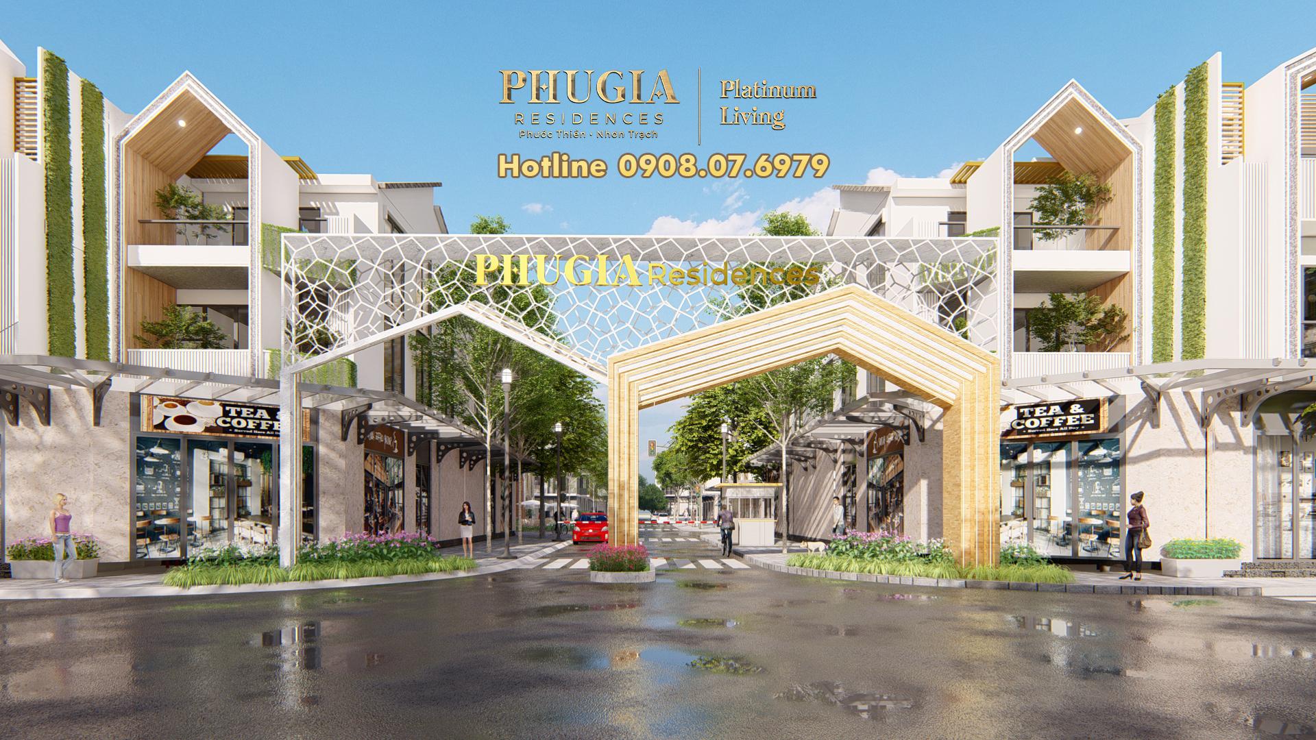 Cổng Chào Dự án Phú Gia Residences | Hotline 0908.07.6979